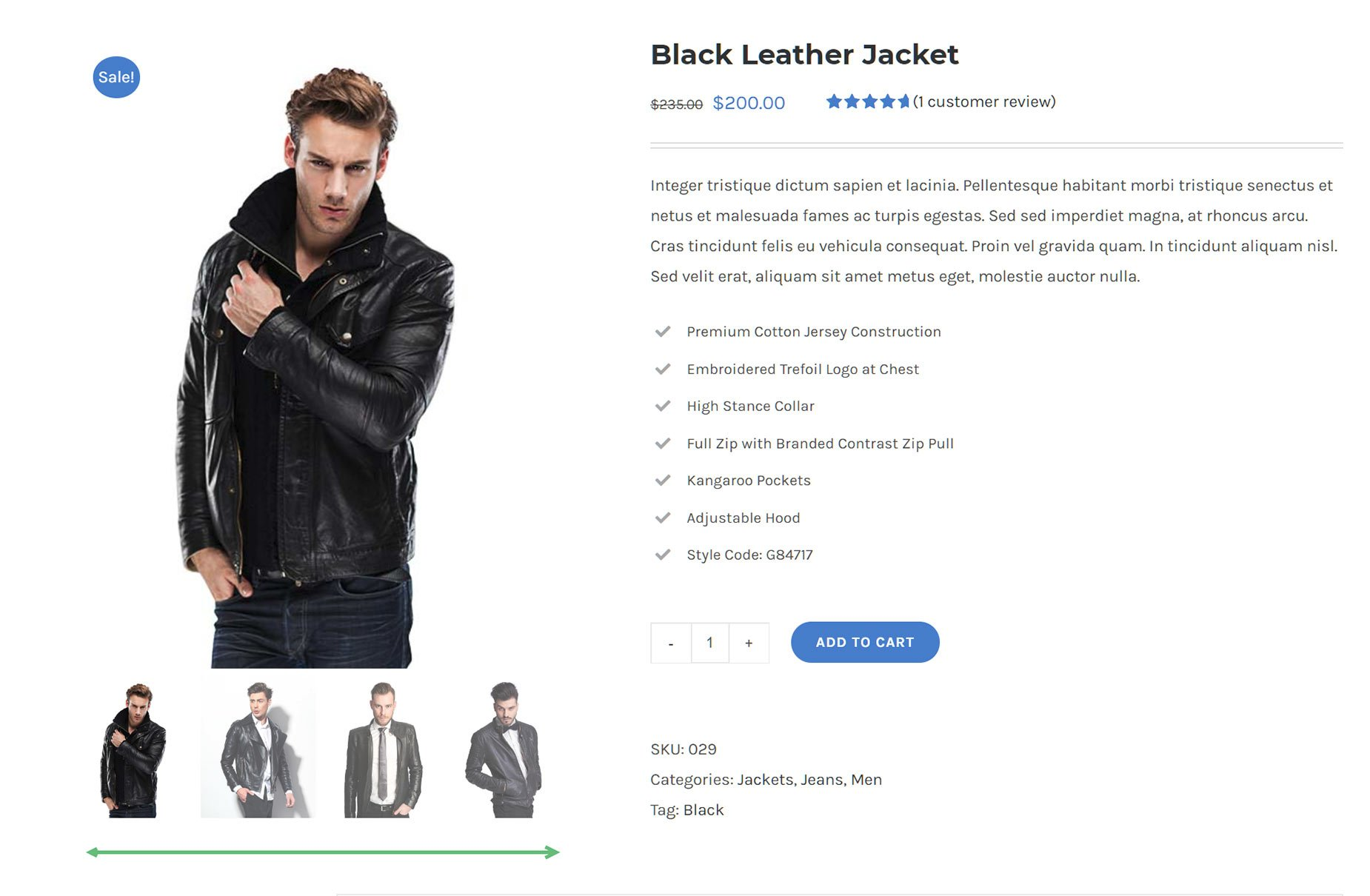 WooCommerce Product Gallery Size Example