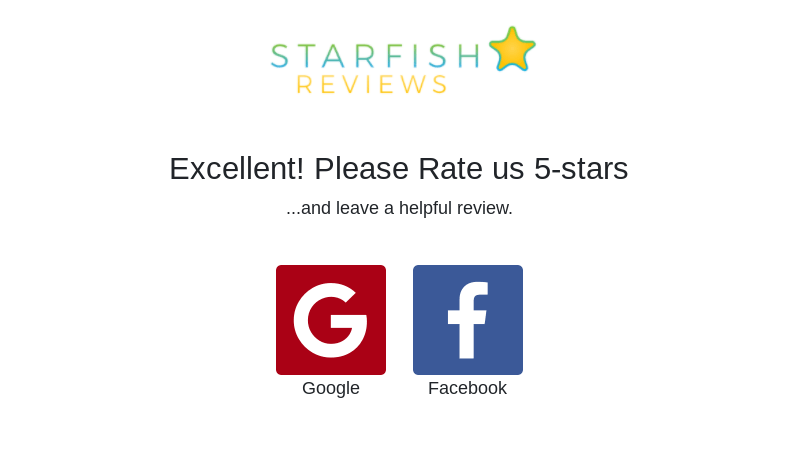 Ratings on Google and Facebook